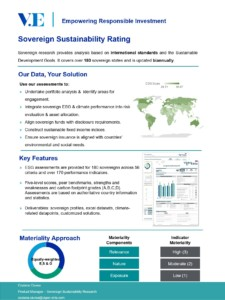 Sovereign Sustainability Rating